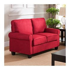 Red Barrel Studio Ginther Loveseat Upholstery: Red Best Sofa, Apartments  Decorating, Barrel,