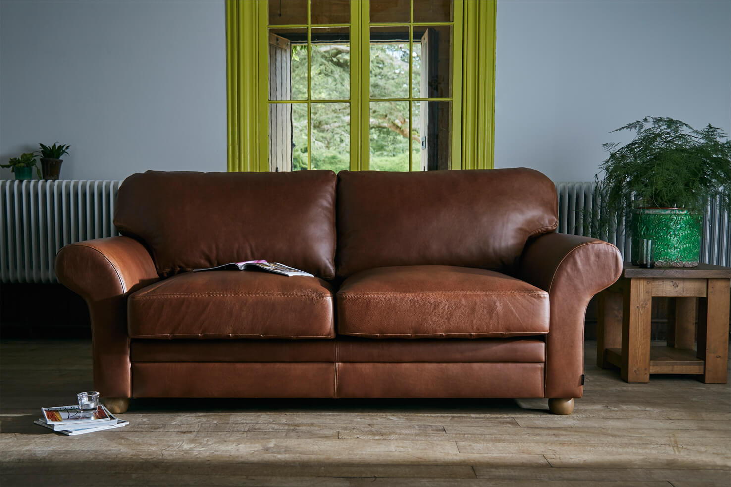 Brown Leather Sofas Home Interior