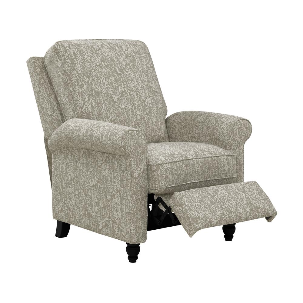ProLounger Taupe Coral Woven Fabric Push Back Recliner Chair