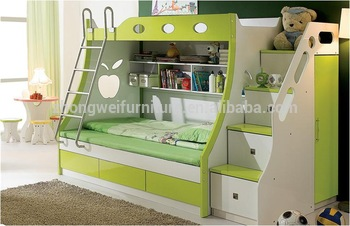 Indian Kids Furniture Children Bedroom Furniture Folding Wall Bunk Bed