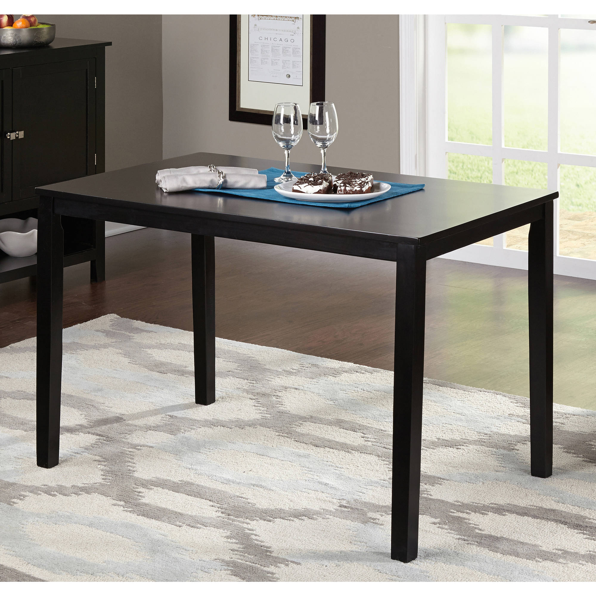 TMS Contemporary Dining Table, Multiple Finishes - Walmart.com