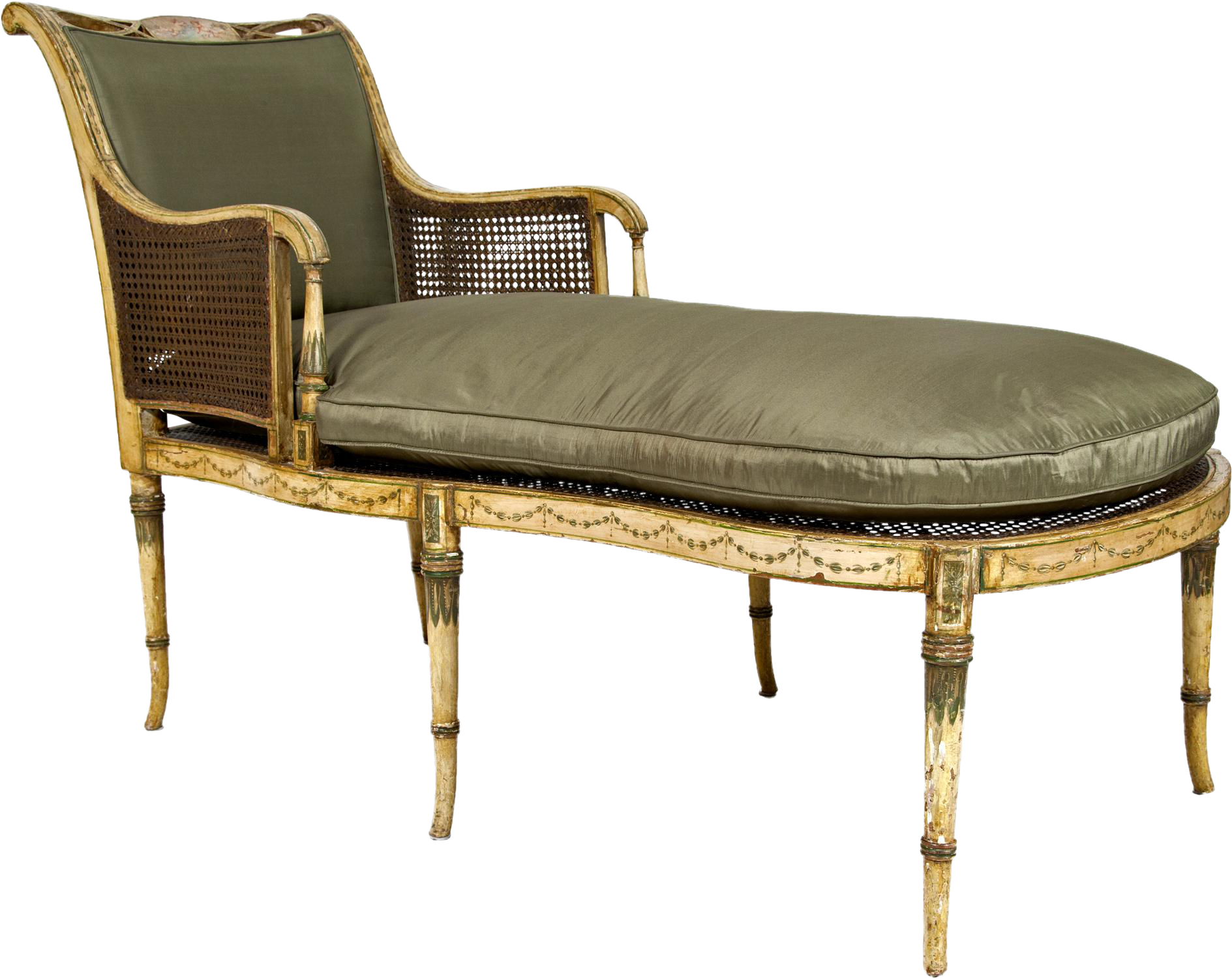 World-Class Early 19th Century Duchesse Brisée Painted Fainting