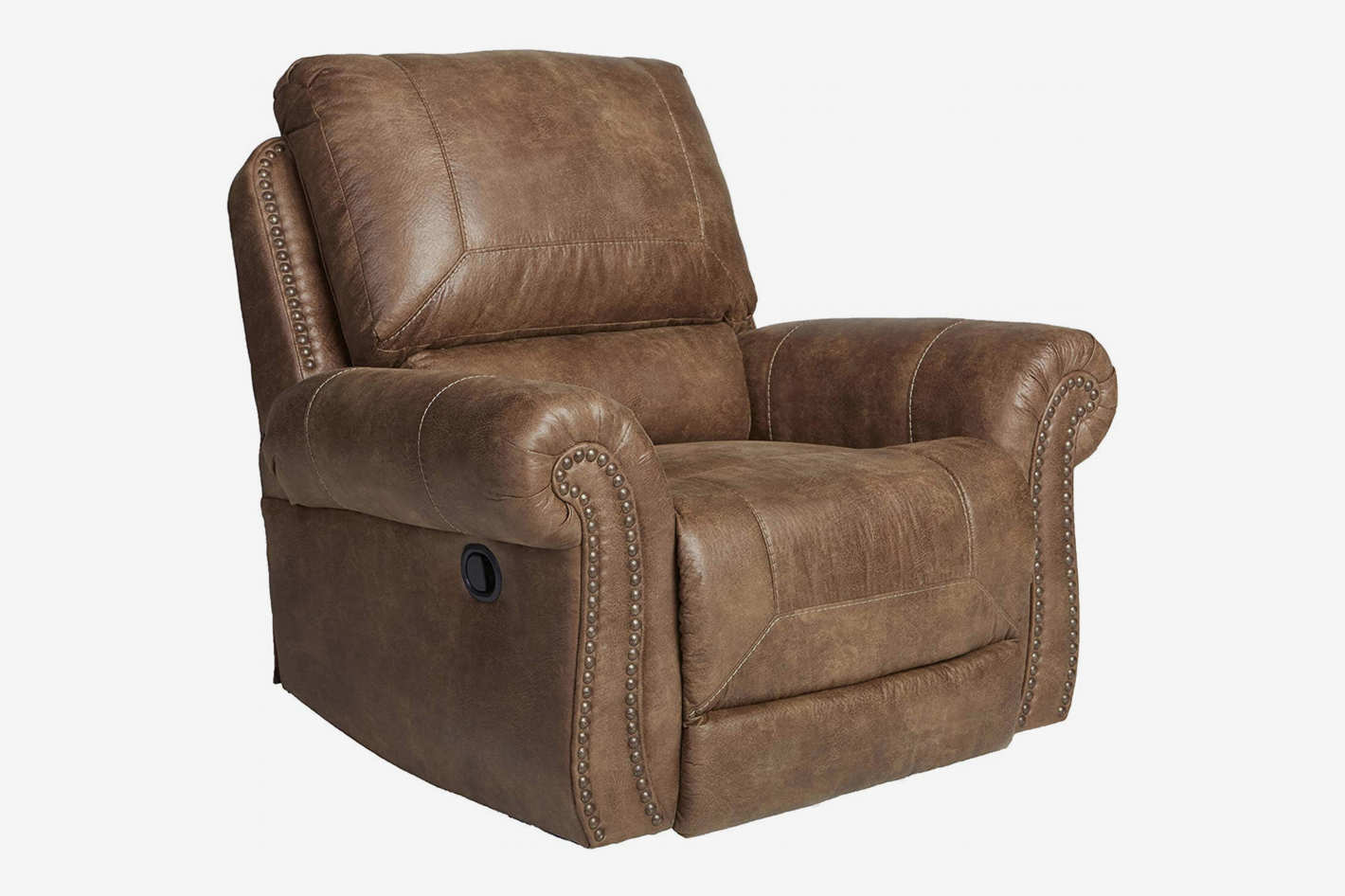 Ashley Furniture Signature Design — Larkinhurst Rocker Recliner — Manual  Reclining Chair