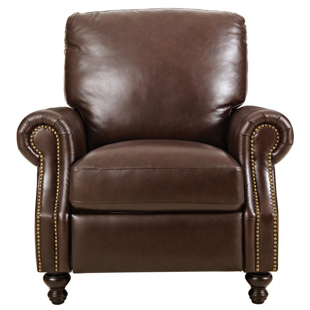 Home Decorators Collection Marco Chocolate Leather Recliner