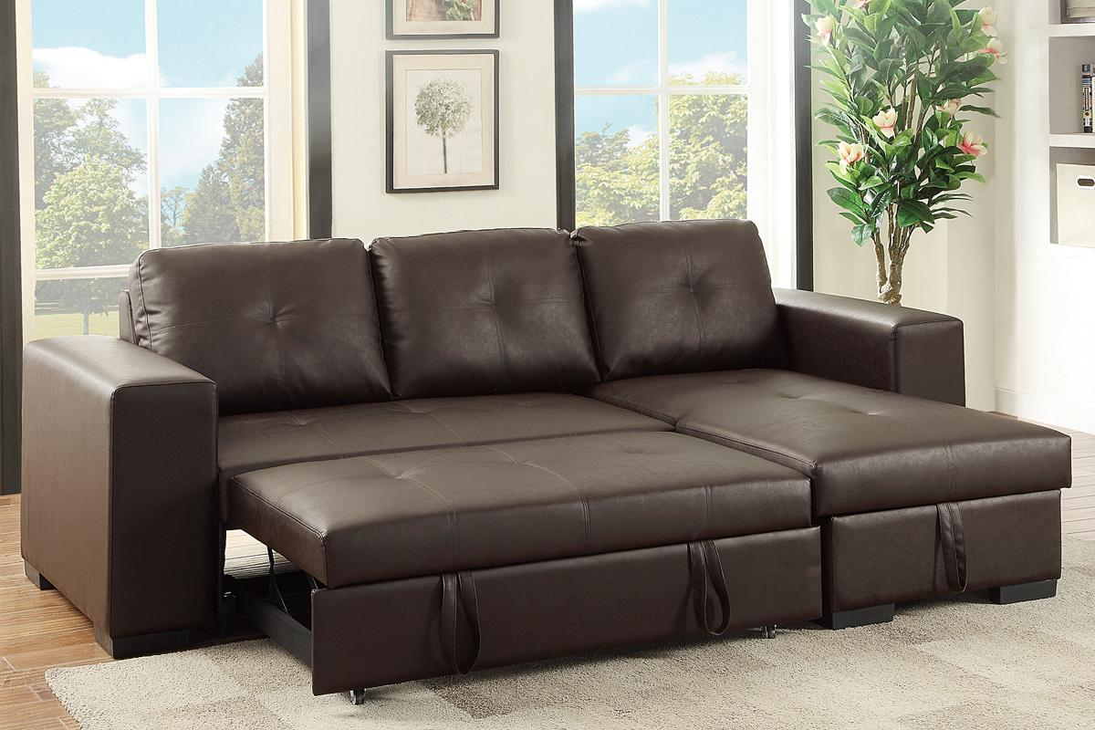 Leather Sectional Sleeper Sofa Home