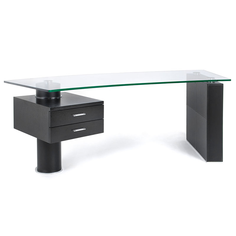 Call to Order · Tierney Modern Glass Desk