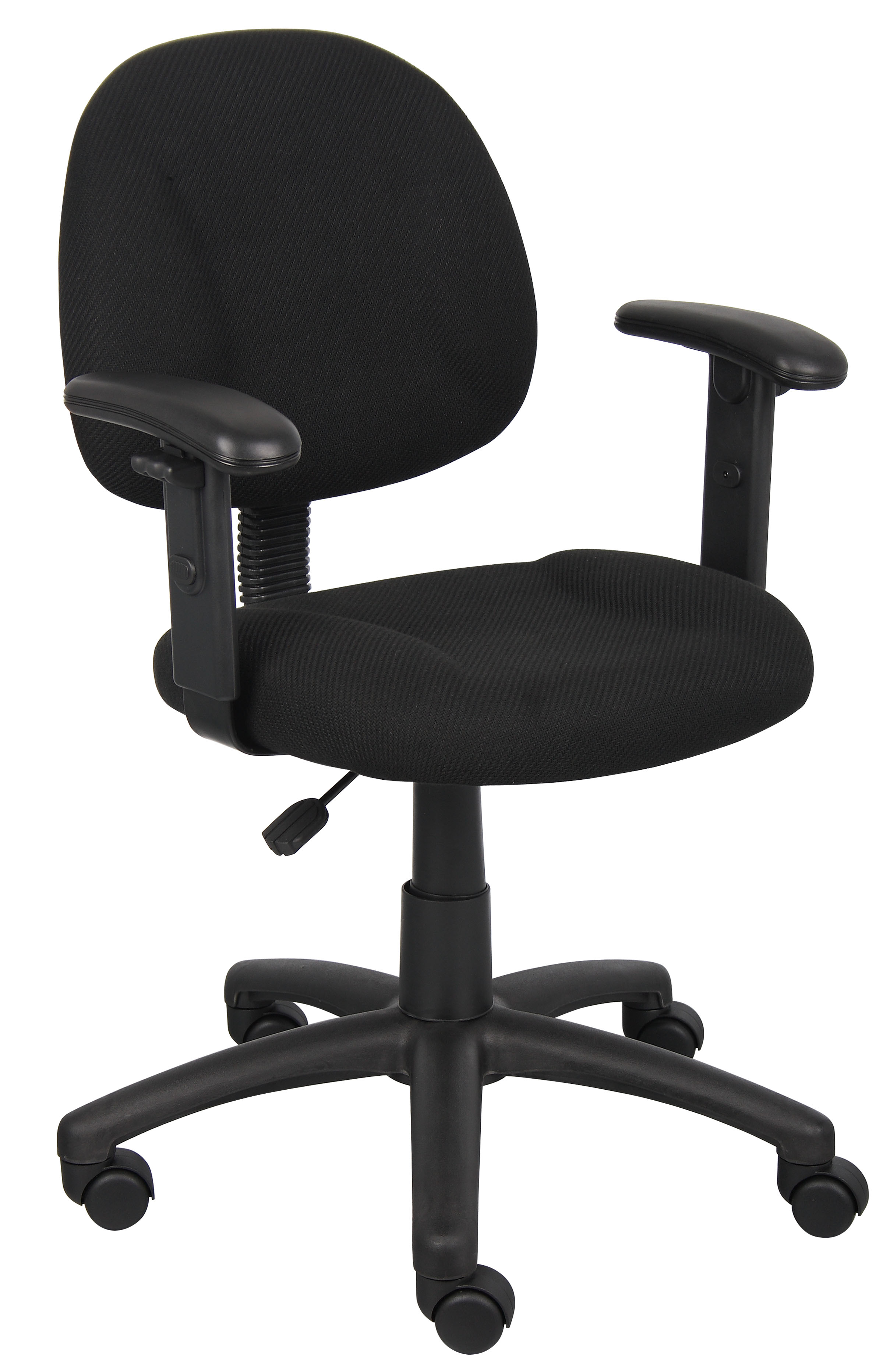 Boss Office & Home Black Perfect Posture Deluxe Office Task Chair with  Adjustable Arms - Traveller Location