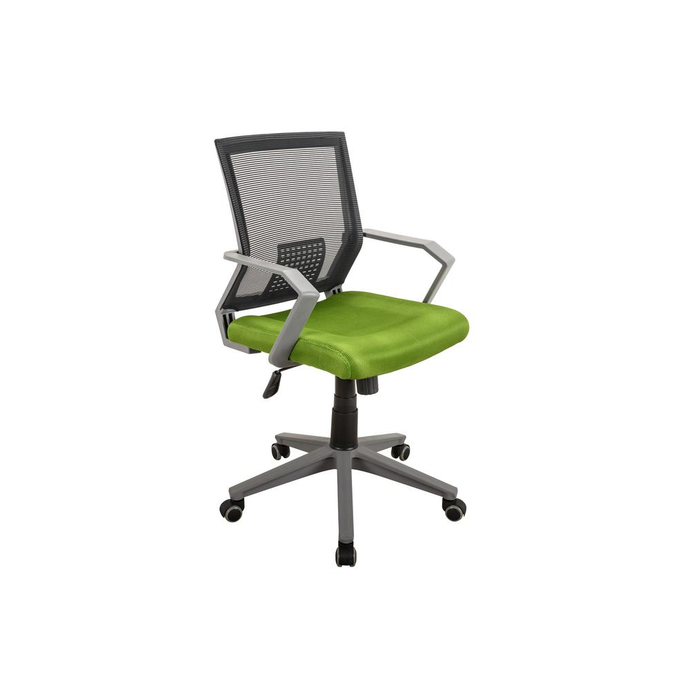 Techni Mobili Green Rolling Height Adjustable Mesh Office Task Chair