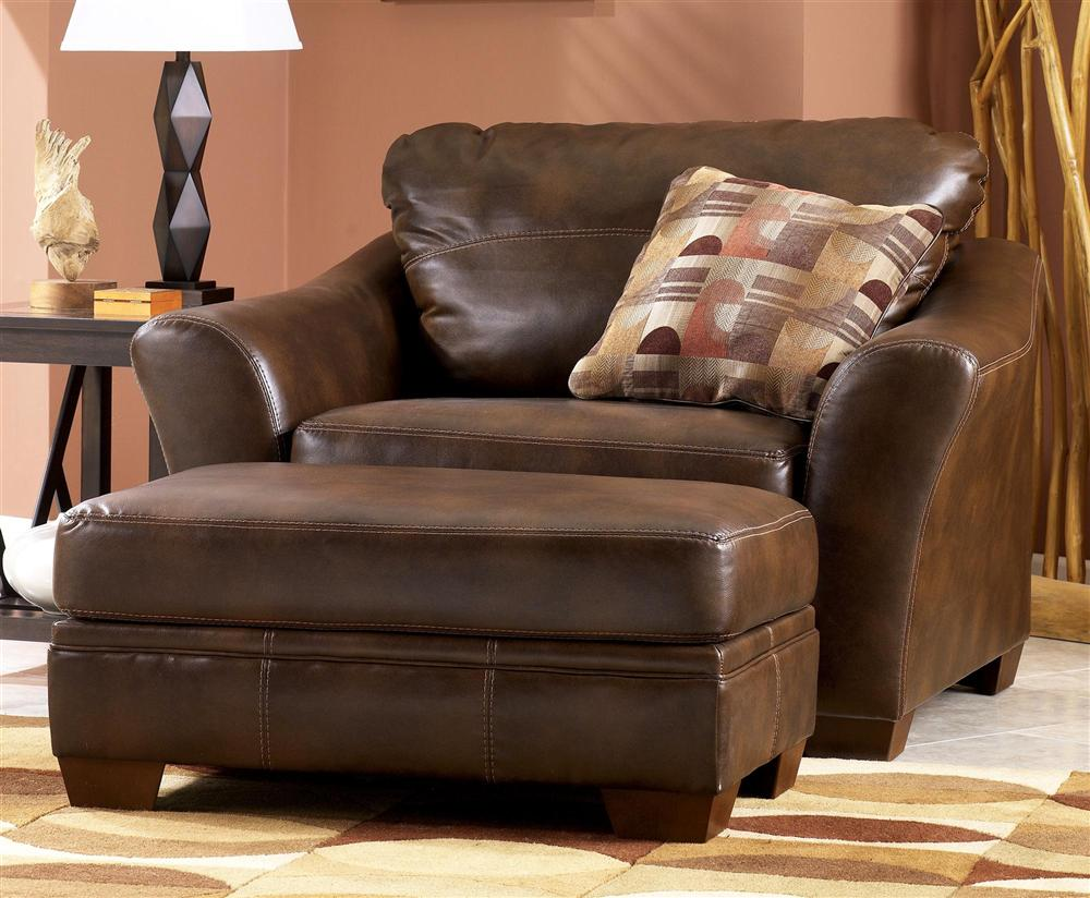 Leather Oversized Living Room Chair