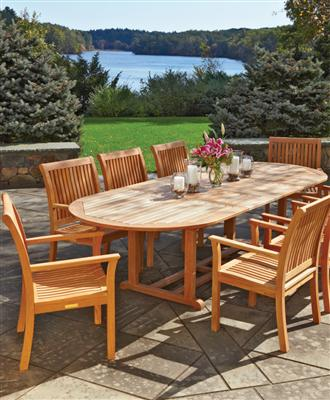 Visit our Teak furniture page now. Or for more information, call  800-343-6948.